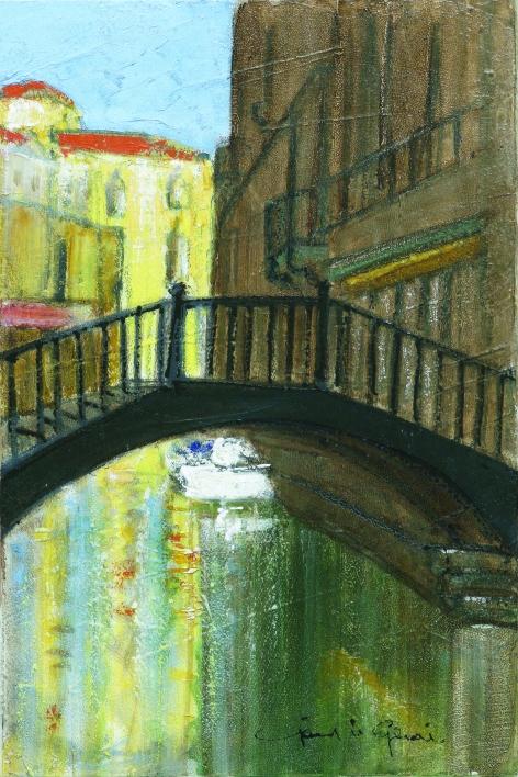 Gerard Le Gentil Le pont sur le Canaletto