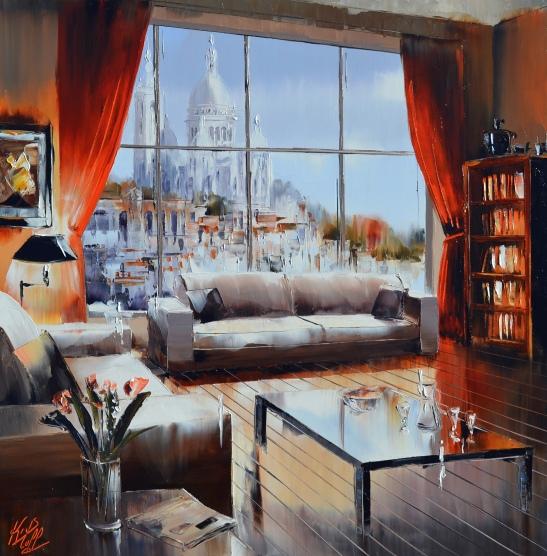 L'appartement rouge 60x60cmAntier